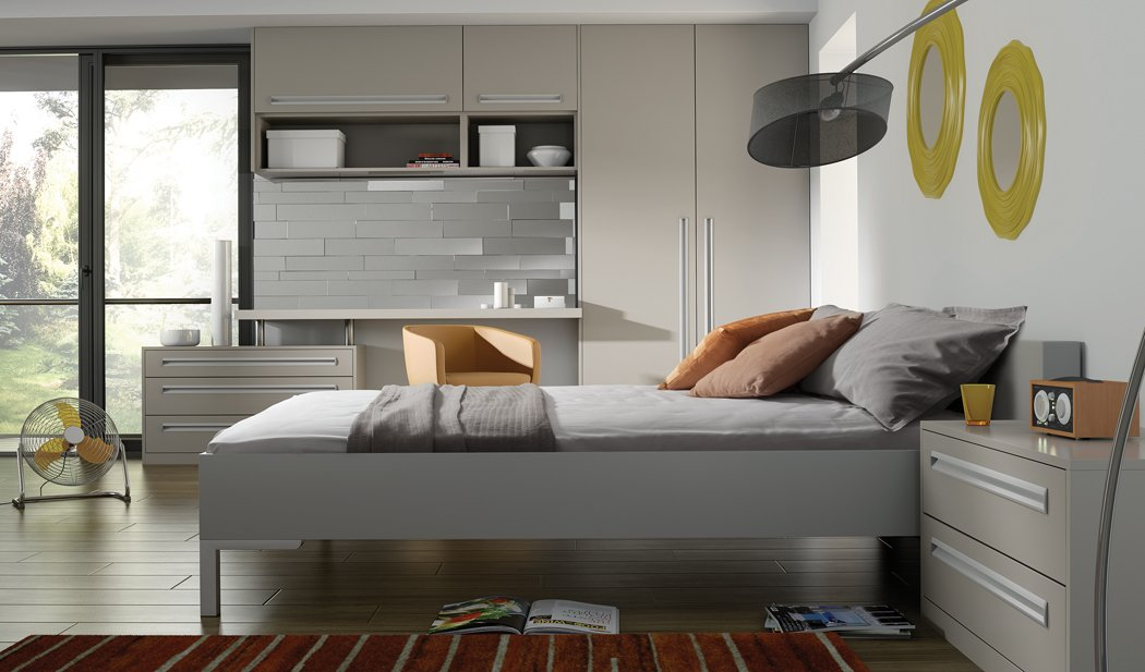 Bella Inset Matt Dove Grey Bedroom