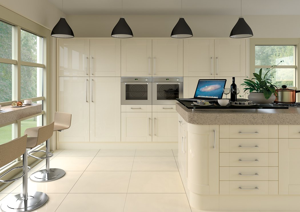 Pronto Ludlow Gloss Cream Kitchen