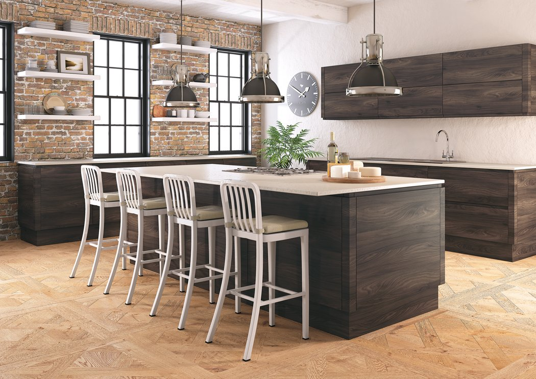 Pronto Malton Lava Elm Kitchen