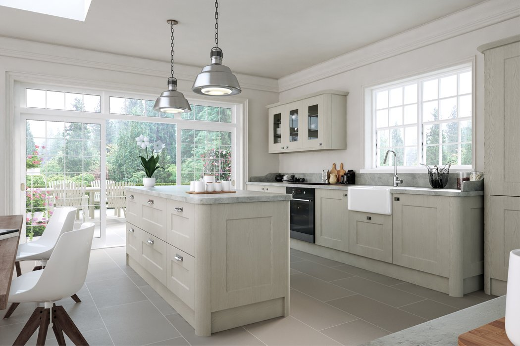 Oakgrain Grey Cambridge Kitchen