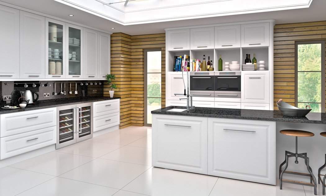 Satin White York Kitchen