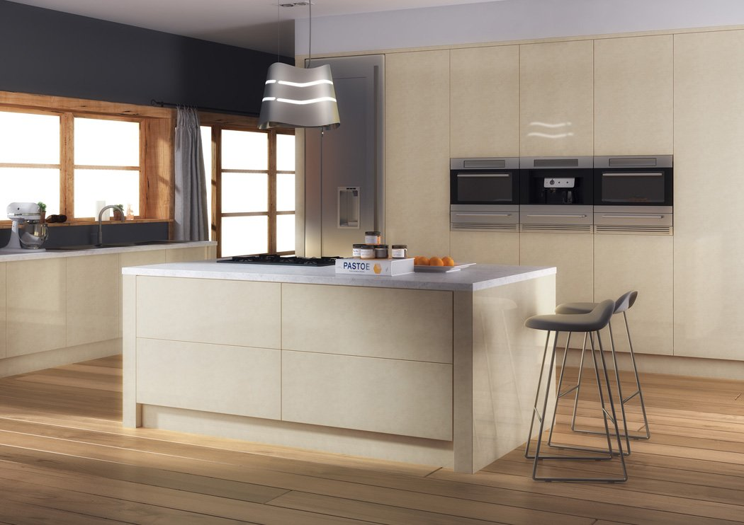 Zurfiz Ultragloss Limestone Kitchen