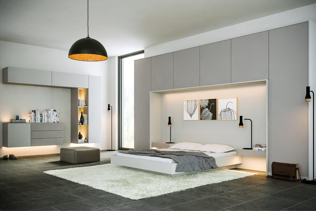 Zurfiz Supermatt Dust Grey Bedroom
