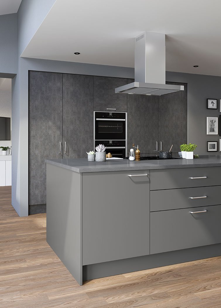 Valore Anthracite Fabric Metal Kitchen