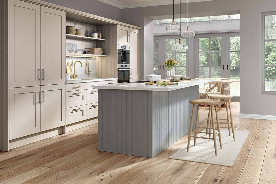 Pronto Wilton Oakgrain Dust Grey Kitchen