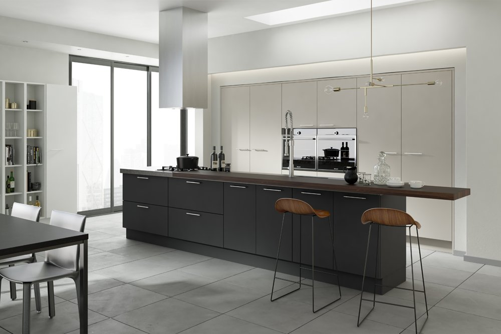 Belair Graphite Mussel and White Kitchen