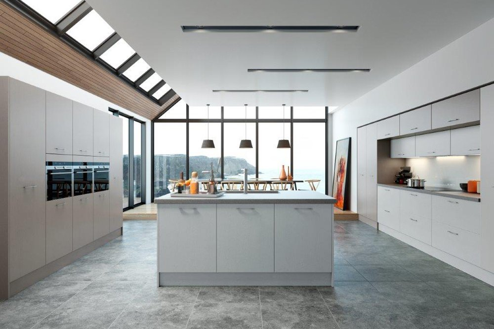 Hyde Stone Grey and Light Grey Kitchen