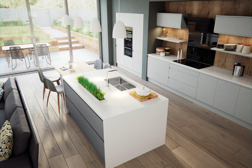 Reed Light Grey Kitchen