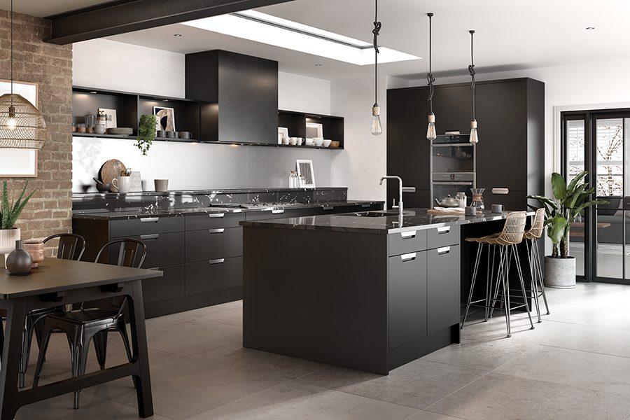 Matt Black Segreto Kitchen