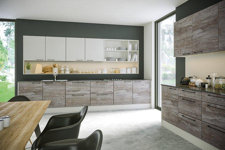 Valore Driftwood Light Grey and Supermatt Light Grey Kitchen