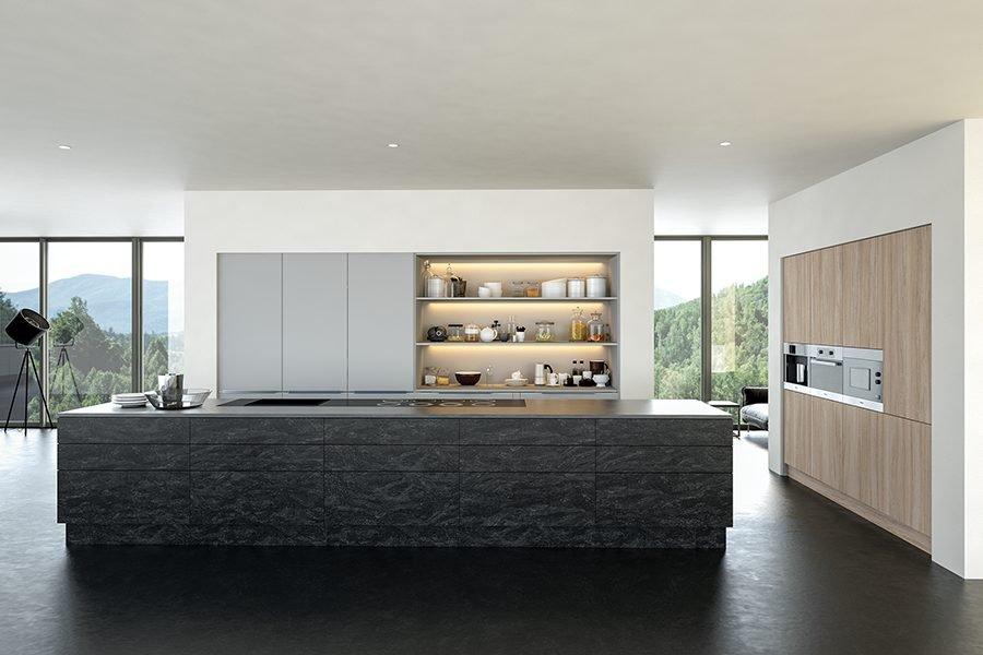 Valore Evora Stone Graphite and Light Grey and Urban Oak Kitchen